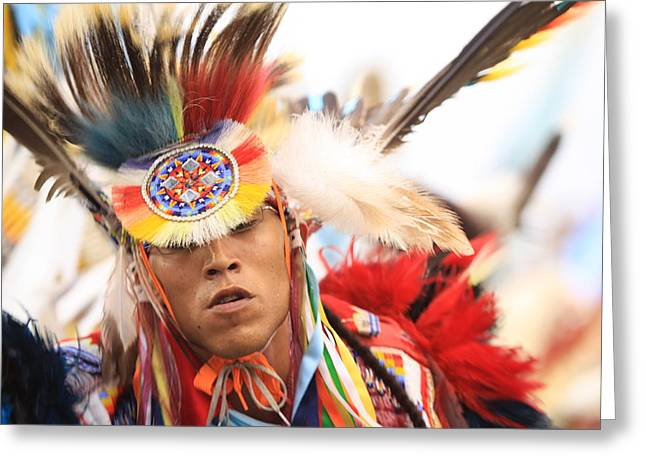Greeting Card featuring the photograph Native Pride by Kate Purdy