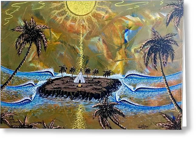 Native Sunset Dream Greeting Card