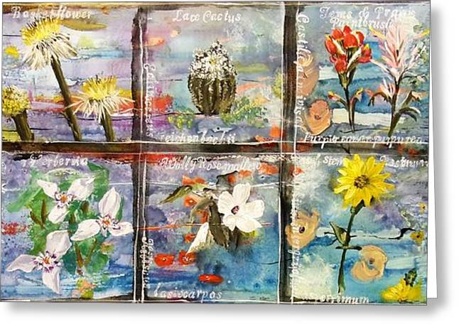 native Texas wildflowers A Greeting Card by Michael Dillon