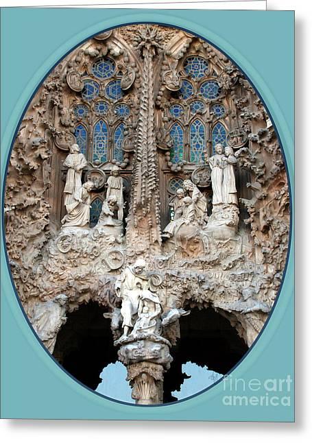 Nativity Barcelona Greeting Card by Victoria Harrington