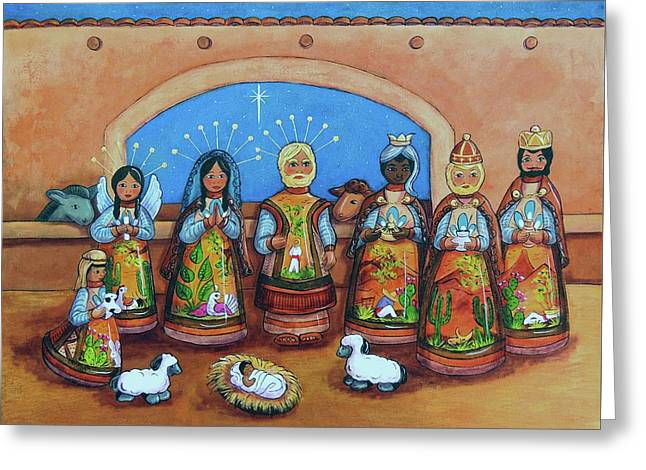 Nativity Greeting Card by Candy Mayer