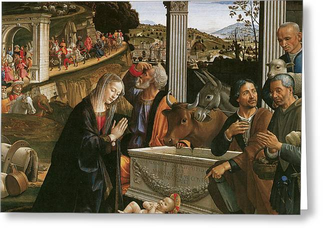 Nativity  Greeting Card by Domenico Ghirlandaio