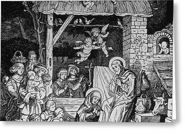 Nativity Greeting Card by German School
