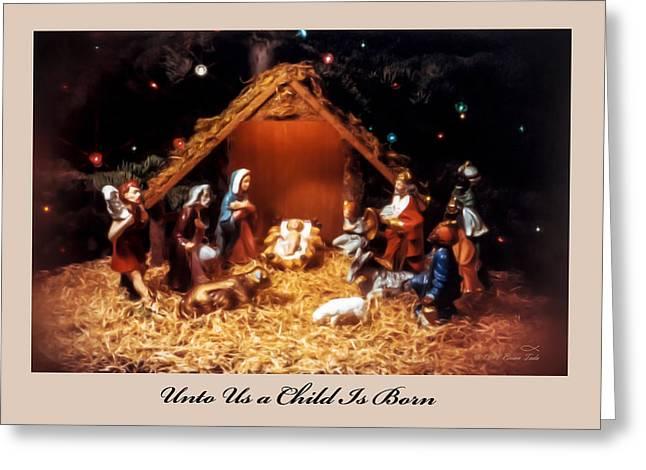 Nativity Scene Greeting Card Greeting Card