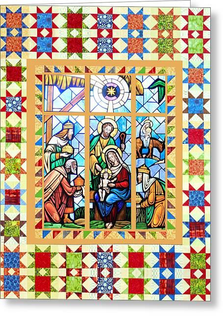 Nativity Stars Greeting Card by Munir Alawi