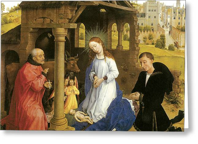 Nativity Weyden Greeting Card by Rogier Van Der Weyden