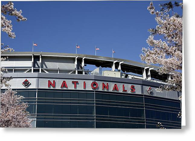 Nats Park - Washington Dc Greeting Card by Brendan Reals