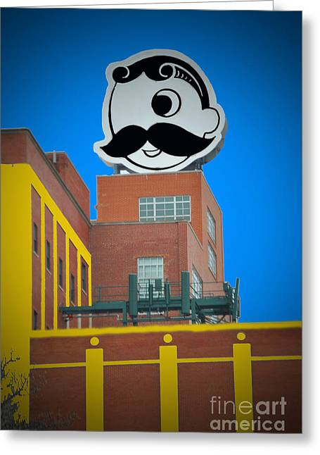 Natty Boh Skyline Greeting Card by Jost Houk