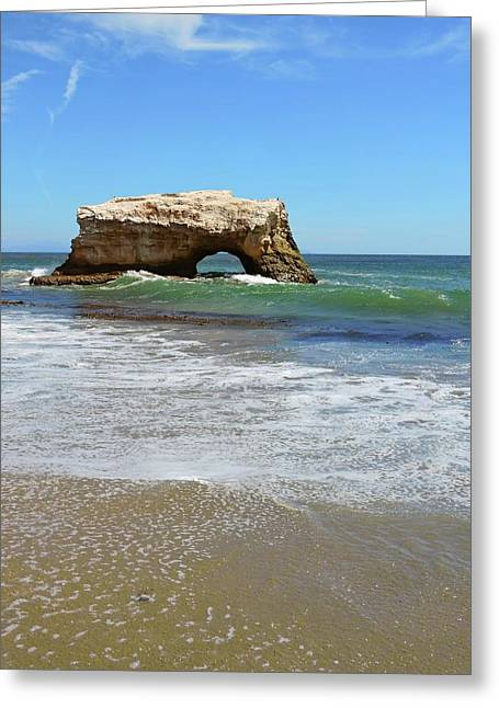 Natural Bridge Beach Greeting Card