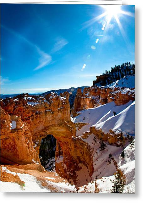 Natural Bridge I Greeting Card by Irene Abdou