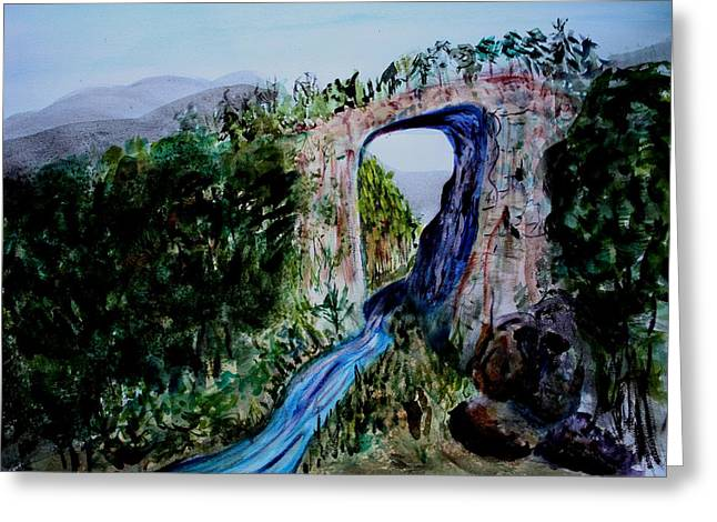 Natural Bridge In Virginia Greeting Card