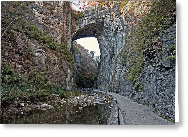 Greeting Card featuring the photograph Natural Bridge Virginia by Suzanne Stout