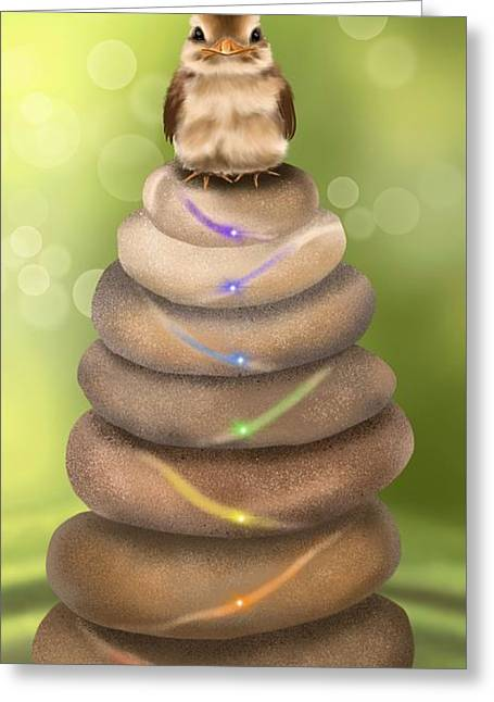 Natural Chakra Greeting Card by Veronica Minozzi