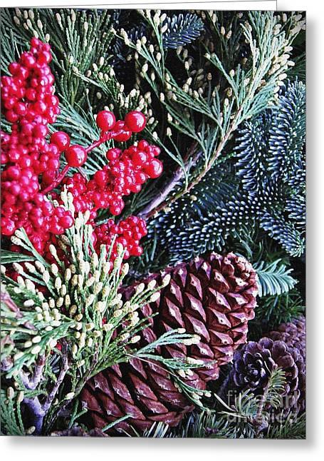 Natural Christmas 3 Greeting Card by Sarah Loft