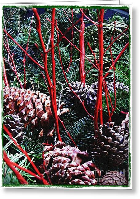 Natural Christmas Card 2 Greeting Card by Sarah Loft