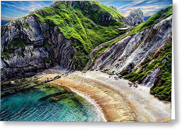 Natural Cove Greeting Card by Anthony Dezenzio