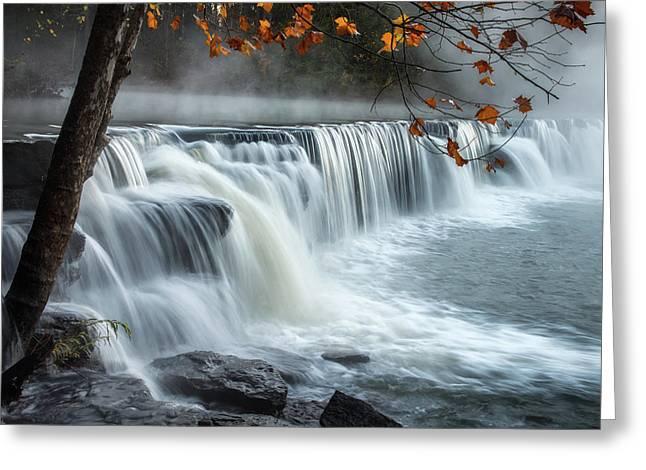 Natural Dam Falls Greeting Card by James Barber