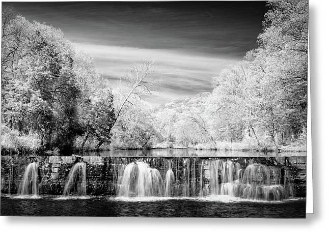 Natural Dam Film Noir Greeting Card