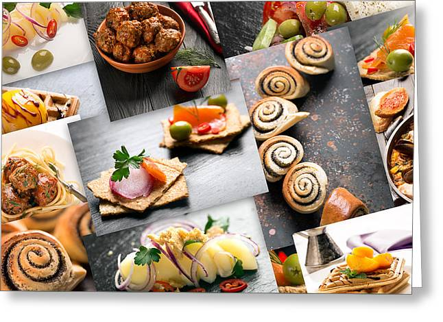 Natural Food. Photo Collage 11 Greeting Card by Vadim Goodwill