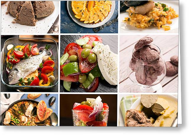 Natural Food. Photo Collage 4 Greeting Card by Vadim Goodwill