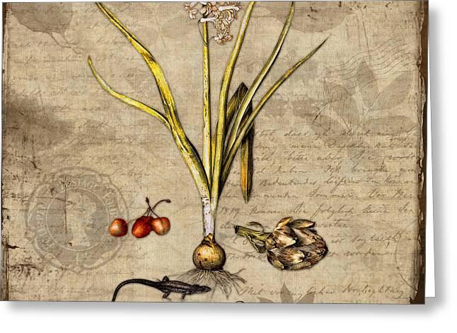 Natural History Botanical Study Greeting Card