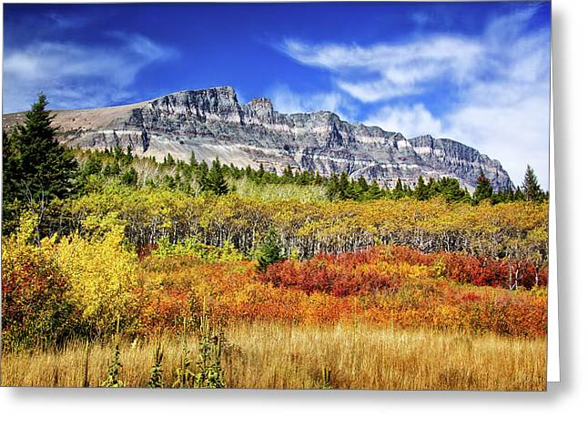 Natural Layers In Glacier National Park Greeting Card