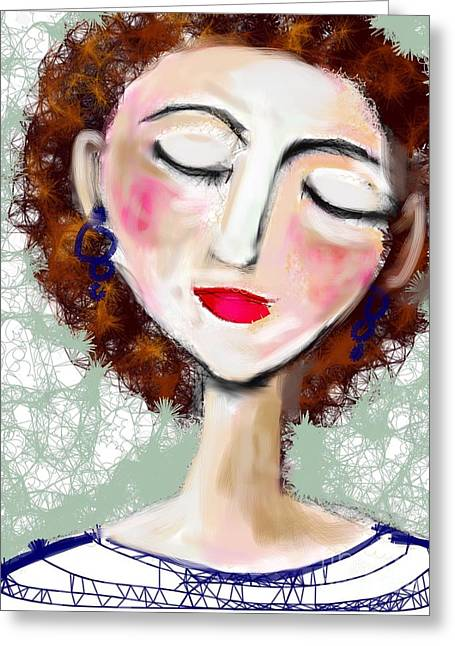 Natural Redhead Greeting Card by Elaine Lanoue
