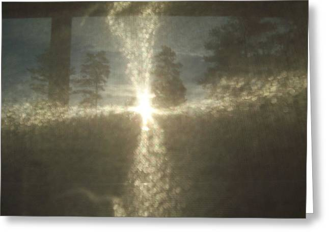 Natural Sun Cross Greeting Card