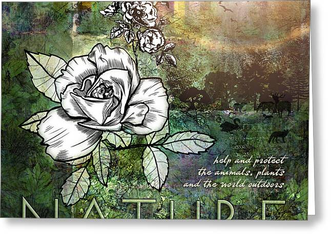 Roses Digital Greeting Cards - Nature Greeting Card by Evie Cook