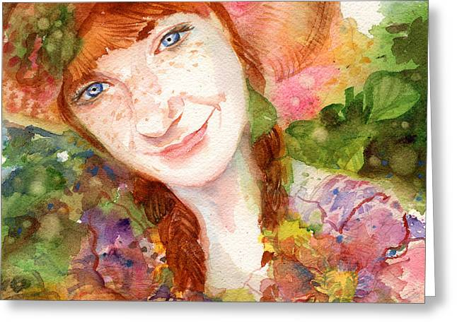 Nature Girl Greeting Card by Erika Nelson