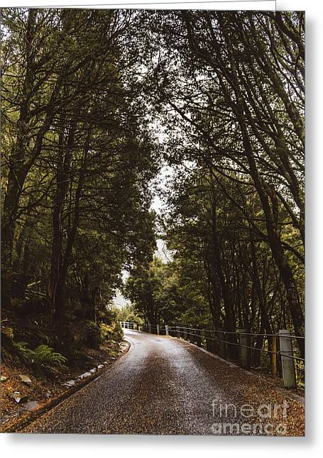 Greeting Card featuring the photograph Nature Landscape Photo Of A Scenic Mountain Road by Jorgo Photography - Wall Art Gallery