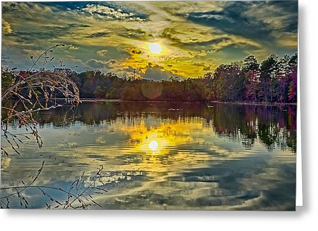 Nature Landscapes Around Lake Wylie South Carolina Greeting Card by Alex Grichenko