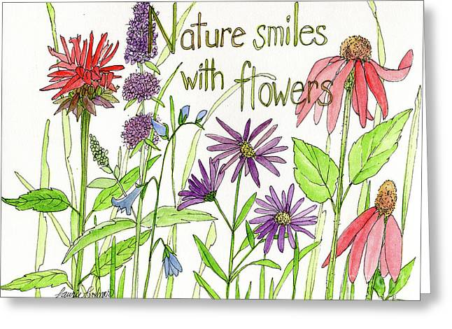 Nature Smile With Flowers Greeting Card