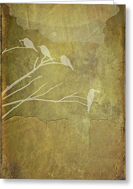 Nature Study In Gold  Greeting Card