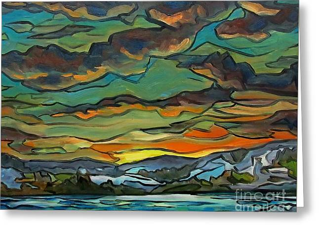 Natures Abstract Glory Greeting Card by John Malone