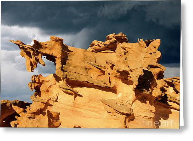 Greeting Card featuring the photograph Nature's Artistry Nevada 3 by Bob Christopher