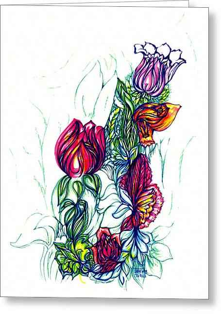 Natures Beauty Greeting Card by Judith Herbert