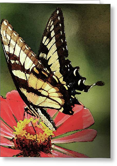 Greeting Card featuring the digital art Nature's Beauty by Kim Henderson