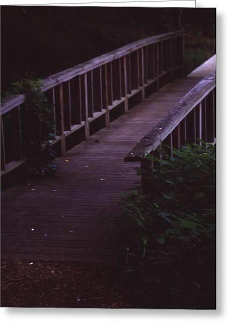 Nature's Bridge Greeting Card by Randy Muir