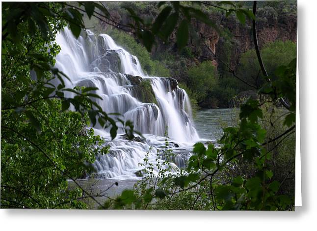 Nature's Framed Waterfall Greeting Card
