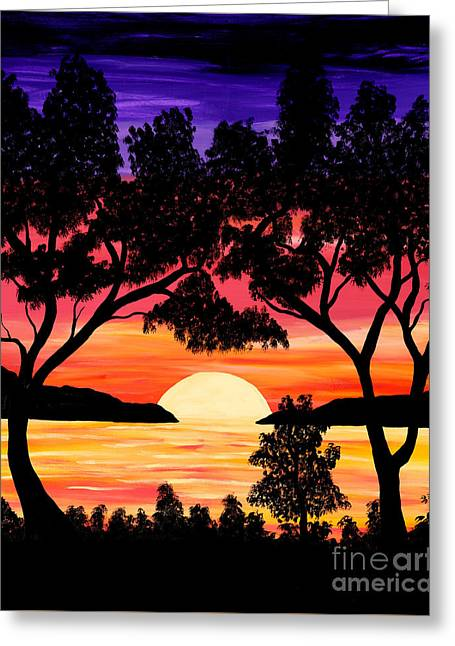 Nature's Gift - Ocean Sunset Greeting Card