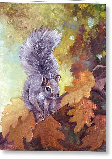 Nature's Guardian Greeting Card by Audie Yenter
