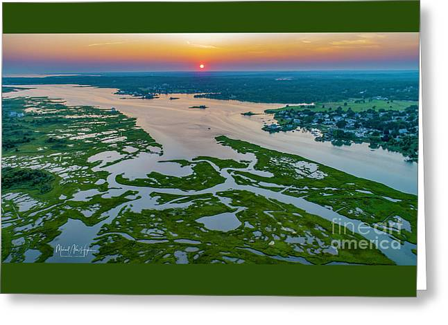 Greeting Card featuring the photograph Natures Hidden Lines by Michael Hughes