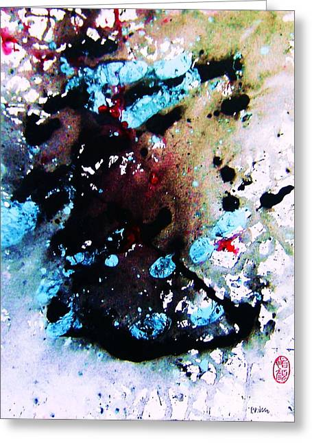 Greeting Card featuring the painting Natures Influence Winter by Roberto Prusso