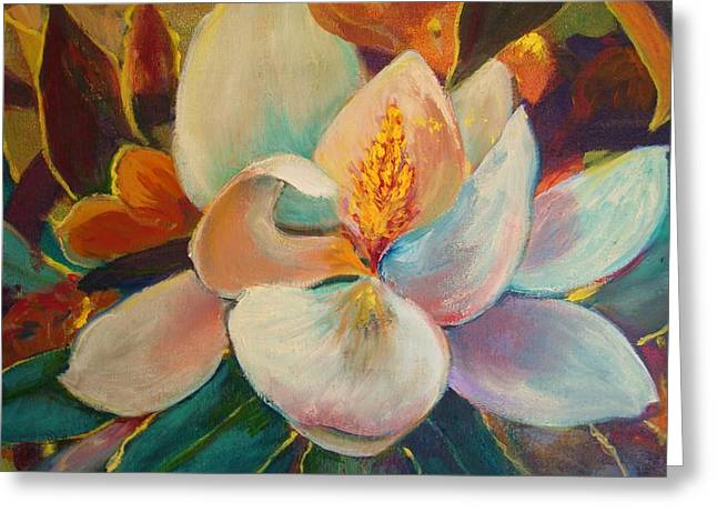 Greeting Card featuring the painting Nature's Jewelry by AnnE Dentler