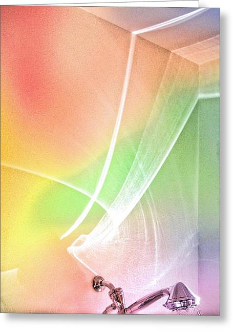Nature's New Art Over My Head New Years Morning 2014 Greeting Card by Phyllis Kaltenbach