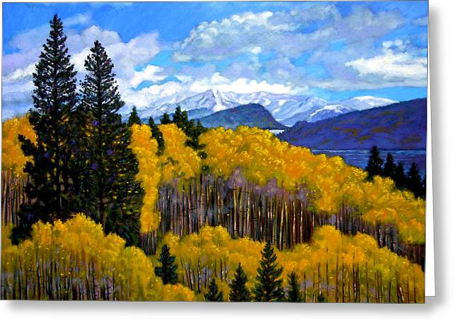 Natures Patterns - Rocky Mountains Greeting Card by John Lautermilch