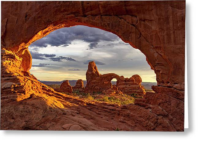 Natures Picture Frame Greeting Card by Peter Irwindale
