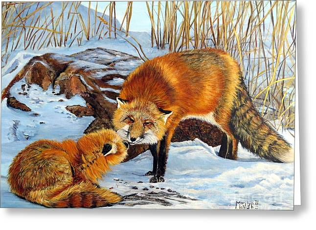 Natures Submission Greeting Card by Marilyn McNish
