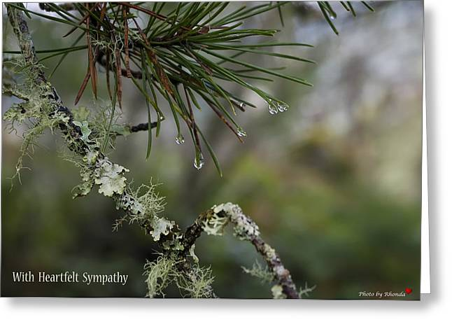 Nature's Tears Greeting Card